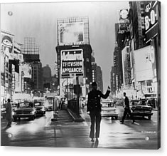Traffic In Times Square Acrylic Print by Fpg