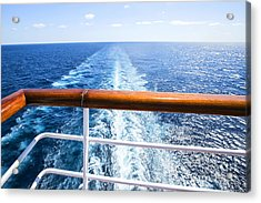 Trail On Water Surface Behind Of Cruise Acrylic Print