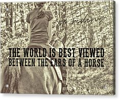 Trail Ride Quote Acrylic Print by JAMART Photography