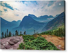 Acrylic Print featuring the photograph Trail To Grinnell Glacier by Lon Dittrick