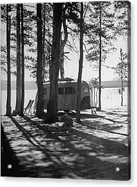 Trailer Park In Yellowstone National Acrylic Print by Alfred Eisenstaedt