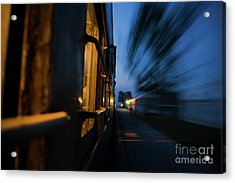 Train In Motion Acrylic Print