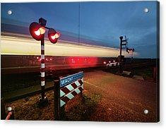 Train Red Signal Acrylic Print