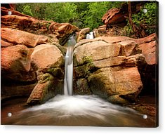 Acrylic Print featuring the photograph Tranquil Falls by Ryan Wyckoff