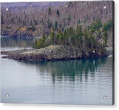 Tranquility In Silver Bay Acrylic Print