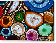 Translucent Mosaic Made With Slices Of Acrylic Print