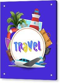 Travel World Acrylic Print