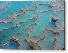 Travertine Terraces Of Pamukkale Acrylic Print