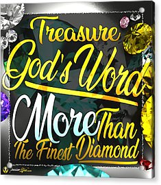 Treasure God's Word Acrylic Print