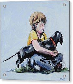 Treasured Dog Acrylic Print by Anne Lewis