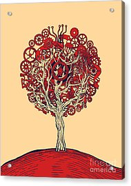 Tree Of Graphic Design Acrylic Print