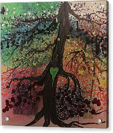 Tree Of Life Chakra Tree Acrylic Print