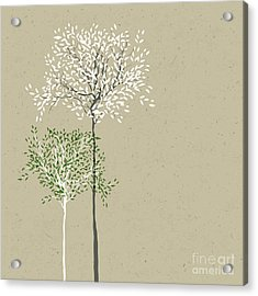 Trees Background. The Trunk And Leaves Acrylic Print