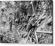 Trench Near Manila Acrylic Print by Hulton Archive