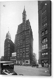 Tribune Building Acrylic Print by Edwin Levick