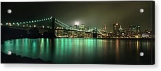 Tribute In Light, Lower Manhattan On Acrylic Print