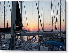 Trieste Sunset Acrylic Print