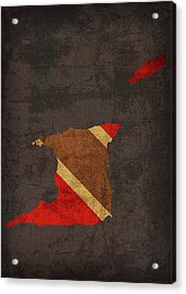 Trinidad And Tobago Country Flag Map Acrylic Print