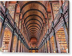 Trinity College Library In Dublin Acrylic Print by Delphimages Photo Creations