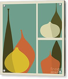 Triptych Of Vases Acrylic Print