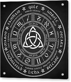 Triquetra Pagan Wheel Of The Year Acrylic Print