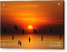 Tropical Colorful Sunset, Songkhla Acrylic Print