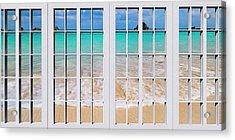 Tropical Paradise Beach Day Windows Acrylic Print
