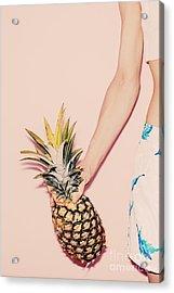 Tropical Summer. Fashion Girl With Acrylic Print