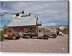 Trucks Lined Up In Nelson Acrylic Print