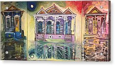 Tryptic On The Bayou New Orleans Acrylic Print