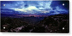 Acrylic Print featuring the photograph Tucson Twilight Panorama by Chance Kafka