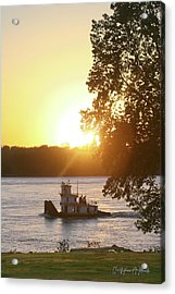 Acrylic Print featuring the photograph Tugboat On Mississippi River by Christopher Meade