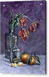 Tulips And Oranges Acrylic Print