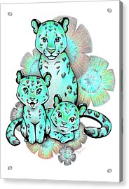 Turquoise Leopards Acrylic Print