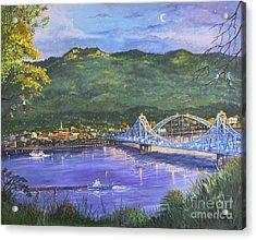 Twilight At Blue Bridges Acrylic Print