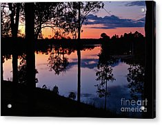 Twilight By The Lake Acrylic Print