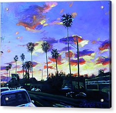 Twilight At Figueroa And 40th  Acrylic Print
