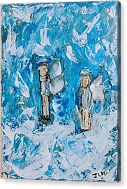 Twin Boy Angels Acrylic Print