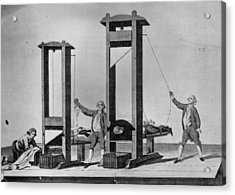 Twin Guillotines Acrylic Print by Hulton Archive