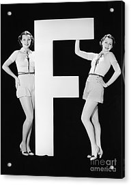 Twins With Huge Letter F Acrylic Print