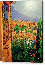Acrylic Print featuring the painting Spritz On The Terrace by Ray Khalife