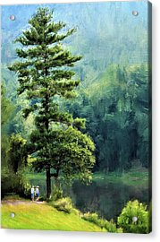 Two Guys And A Pond Acrylic Print