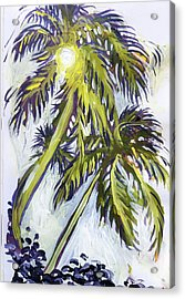 Two Palm Sketch Acrylic Print