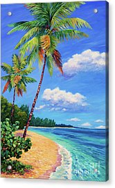 Two Palms In Paradise Acrylic Print