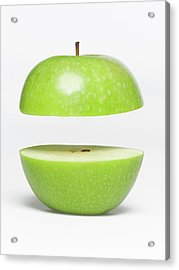 Two Parts Of Apple With Copyspace Acrylic Print by Jazzirt