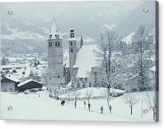 Tyrolean Churches Acrylic Print by Slim Aarons