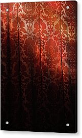Uk, England, Oxford, Light On Red Fabric Acrylic Print by Westend61