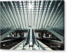 Ultra Modern Train Station In Liege Acrylic Print