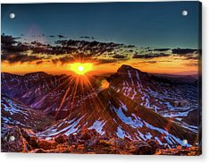 Uncompahgre At Sunrise Acrylic Print by Photo By Matt Payne Of Durango, Colorado