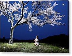 Under Cherry Blossoms2 Acrylic Print